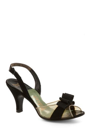 Vintage Reserve Moira Heel - Black, Multi, Bows, Buckles, Vintage Inspired, 40s, 50s