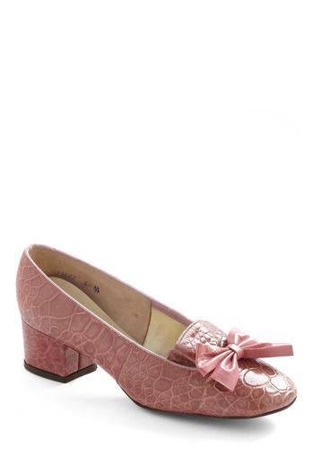 Vintage Reserve Clara Heel - Pink, Bows, Vintage Inspired, 60s