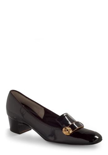 Vintage Reserve Joyce Heel - Black, Multi, Gold, Solid, Buckles, Vintage Inspired, 60s