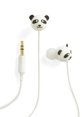 Bamboo-m Box Earbuds by Decor Craft Inc. - White, Black, Kawaii