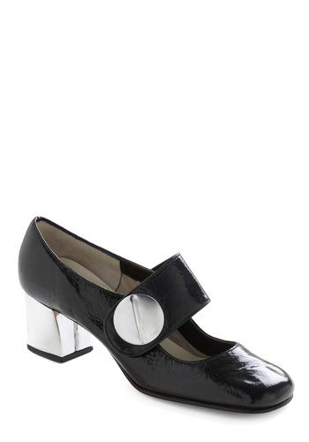 Vintage Reserve Penelope Heel - Black, Multi, Silver, Buckles