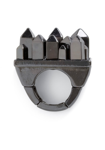 Draw the Skyline Ring - Casual, Silver, Statement