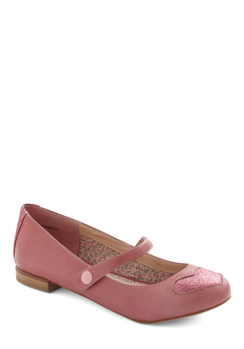 Step Somewhere Sweet Flat by Shellys of London - Pink, Patch