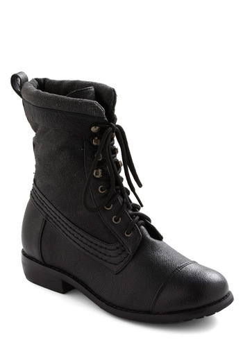 Amp It Up Boot - Black, Casual, 90s, Military, Winter