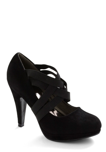 That's a Strap Heel - Party, Urban, Black, Solid, High