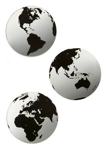 Give It a World Mirror Set - Black, Print, Eco-Friendly, Travel, Graduation, Better
