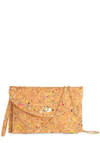 Make It Cork Bag - Multi, Chain, Tan / Cream, Print