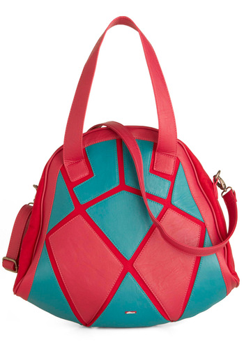 State of the Art School Bag by Skunkfunk - Casual, Statement, Pink, Blue