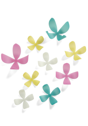 All Along The Wallflower Glowing Wall Decor - Yellow, Blue, Pink, White, Solid, Flower