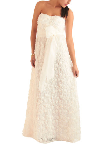 Jill Jill Stuart Match Made in Paradise Dress - Long, Wedding, White, Flower, Strapless, Spring