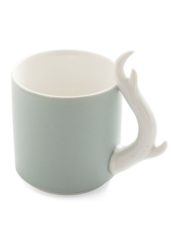 My Deer Mug by IMM Living - Green, White, Solid, Eco-Friendly