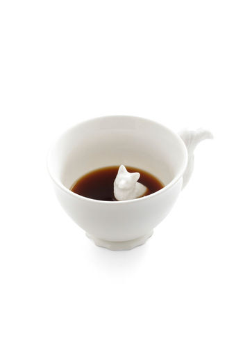 Tail Me More Mug in Fox by IMM Living - White, Solid, Eco-Friendly, Good