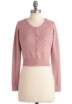 Classic Remixed Cardigan in Pink