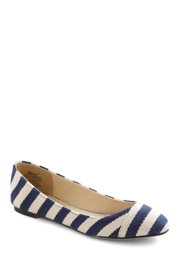 Ready or Naut Flat - Stripes, Blue, White, Casual, Nautical