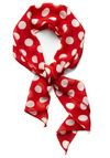 Tie Love It Scarf - Casual, Nautical, Red, White, Polka Dots, Rockabilly