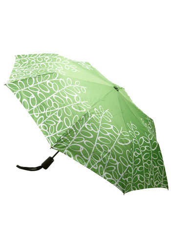 Prepared for Precipitation Umbrella in Green - Green, White, Floral, Casual, Spring