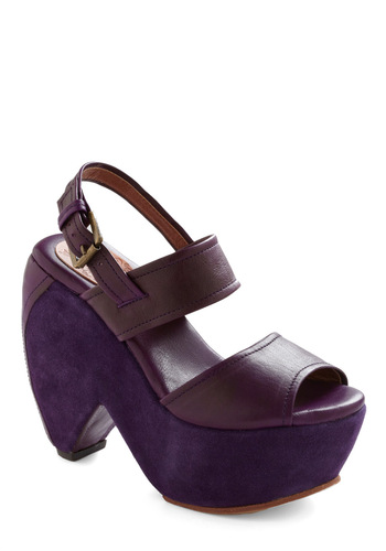 Take the Heel and Drive in Plum - Purple, Solid, Buckles, Party, Statement