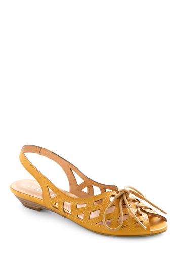 I'm on Deck Sandal - Casual, Yellow, Solid, Cutout