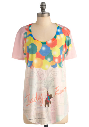 Lift You Up Top - Long, Casual, Vintage Inspired, 90s, Pink, Short Sleeves, Multi, Red, Orange, Yellow, Green, Blue, Brown, Summer