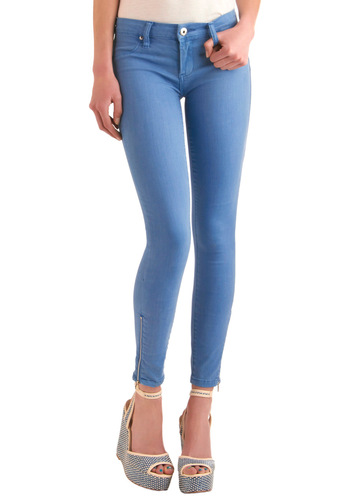 Its Just Me Jeans by Blank NYC - Casual, Blue, Solid, Long, Exposed zipper, Denim, Skinny