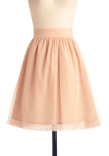 From Me Tutu You Skirt - Mid-length, Pink, Solid, A-line, Casual, Fairytale, Ballerina / Tutu