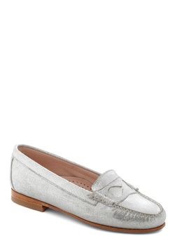 Rachel Antonoff for Bass Kissing Hearts Flat in Silver