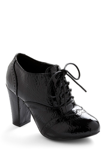 Unpredictable Ending Heel - Black, Solid, Work