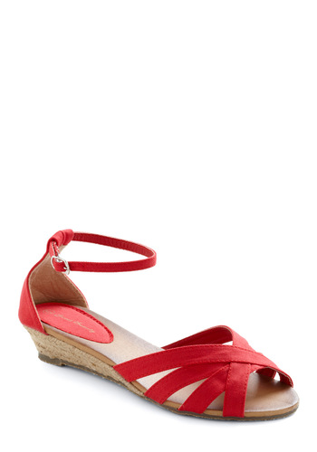 Gondola with the Wind Sandal - Casual, Nautical, Red, Solid, Cutout, Summer