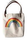 Sunday Market Tote in Rainbow by FluffyCo - Multi, Cream, Statement
