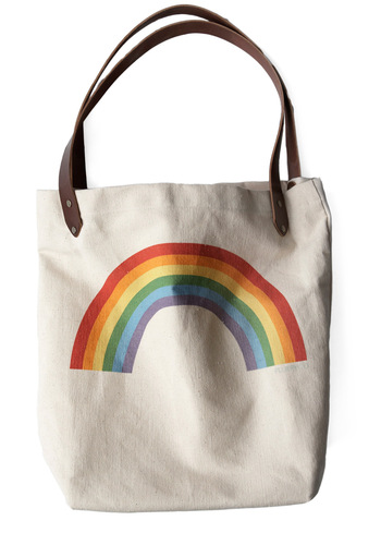 Sunday Market Tote in Rainbow - Multi, Cream, Statement