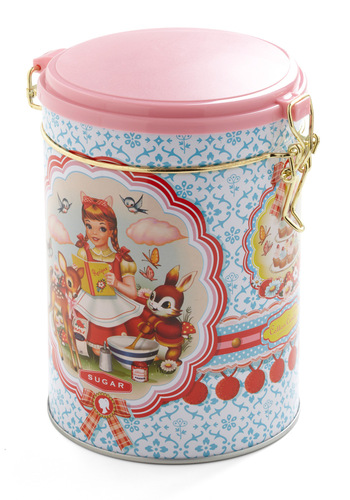 Contain Your Excitement Sugar Canister by Wu & Wu - Novelty Print, Pink, Pastel, Top Rated