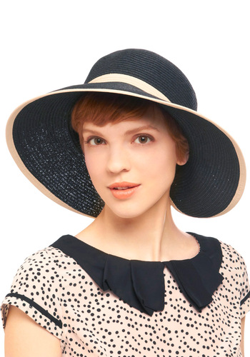 A Sun Hat Called Desire - White, Woven, Blue, Nautical, 30s, Travel