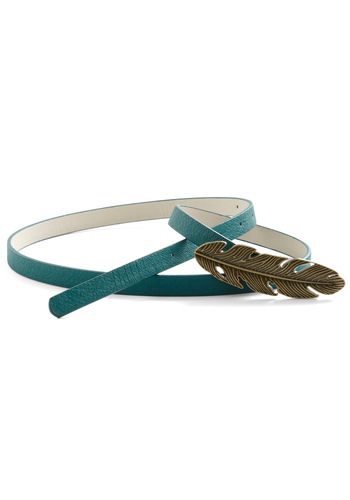 You're a Natural Belt - Casual, Safari, Blue, Gold, Buckles, Faux Leather