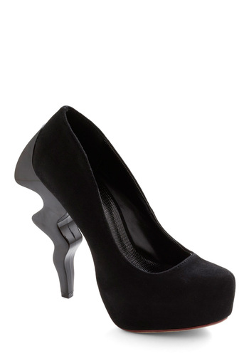 Streak of Brilliance Heel - Black, Solid, Statement, Party