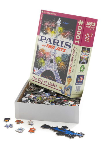 At Piece with the World Puzzle in Paris - Multi, Multi, Novelty Print