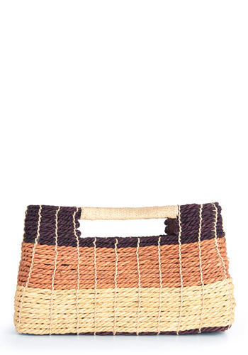 Dessert Cross Section Bag - Brown, Tan / Cream, Casual