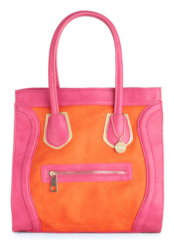 Oh Miami Bag - Casual, Urban, Orange, Pink, Exposed zipper, Summer
