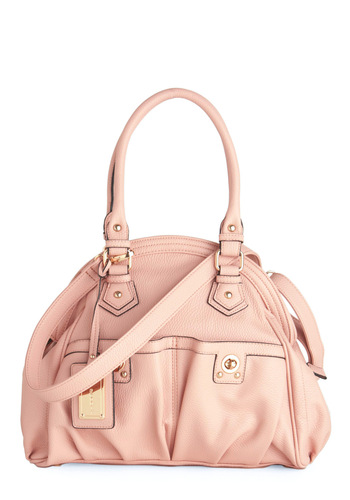 Pink About It Satchel - Pink, Solid, Pockets