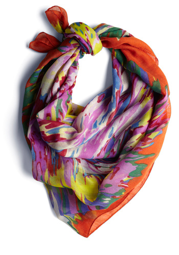 Back in a Splash Scarf - Casual, Urban, Multi, Multi, Print