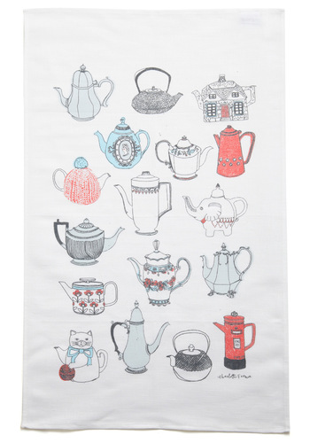 While You Were Steeping Tea Towel - Multi