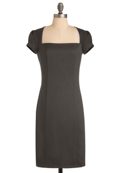 Un-twill We Meet Again Dress in Grey
