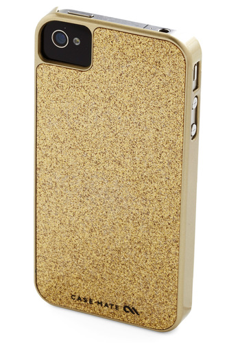 Gold the Phone iPhone Case - Gold, Solid