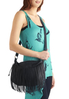 Looking Boho in NoHo Bag - Boho, Black, Solid, Fringed