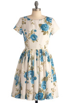 Beauty in the Air Dress in Delphinium