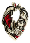 Window to Fashion Scarf - Multi, Red, Print, Black, White