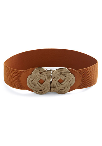 Knot Much Belt - Brown, Bronze