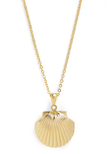 Keep You Close to Sea Necklace - Gold, Nautical