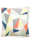 Graphic Diner Pillow - Multi, Orange, Yellow, Blue, Tan / Cream, White, Print, Dorm Decor