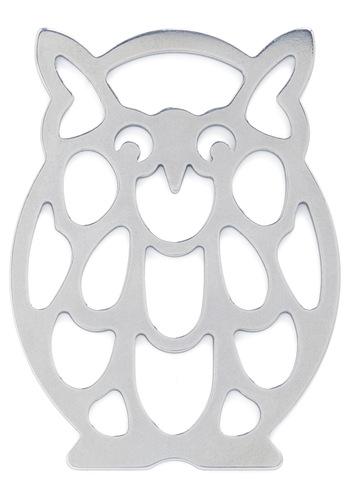 Owl Bottled Up Bottle Opener by Kikkerland - Silver, Dorm Decor, Owls