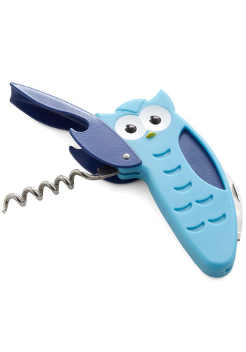 Helping Wing Corkscrew by Kikkerland - Blue, Owls